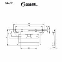 Adam Hall 34482 | Manija exterior con resorte para anvil o baúl