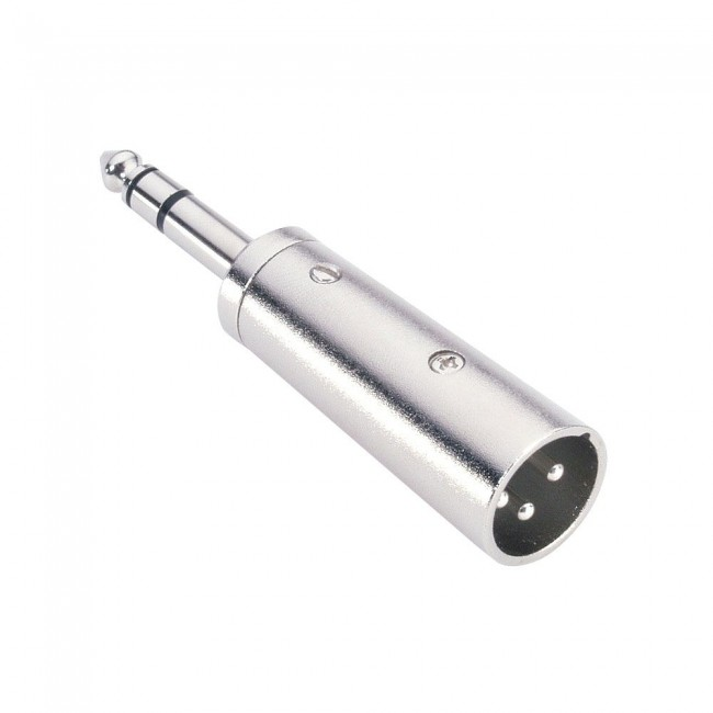 ADAM HALL 7855   Conector adaptador Jack macho estéreo a XLR macho 6.3mm