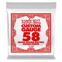 ERNIE BALL P01158 | Pack de 6 Cuerdas de Guitarra Eléctrica Nickel Wound 0.58