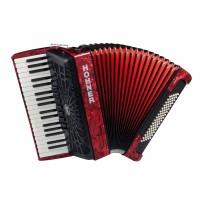 HOHNER A1643 | Acordeón Bravo III 80 Bass Piano Rojo