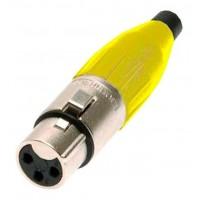Amphenol AC3F-YEL | Conector XLR Hembra Amarillo