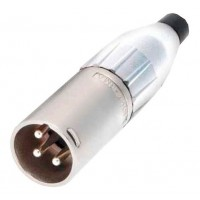 Amphenol AC3MM-WHT | Conector XLR Macho Tapa Blanco