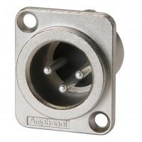 Amphenol AC3MMDZ | Conector XLR Macho Chasis Cuadrado