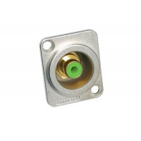 Amphenol ACJD-GRN | Conector RCA Hembra Chasis Verde
