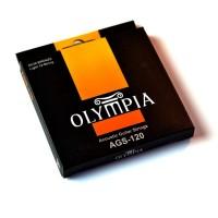 OLYMPIA AGS120 | Cuerdas para Guitarra Acústica de 12 Cuerdas Calibres 80/20