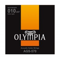 OLYMPIA AGS570 | Cuerdas para Guitarra Acústica Extra Light Calibres 10-47