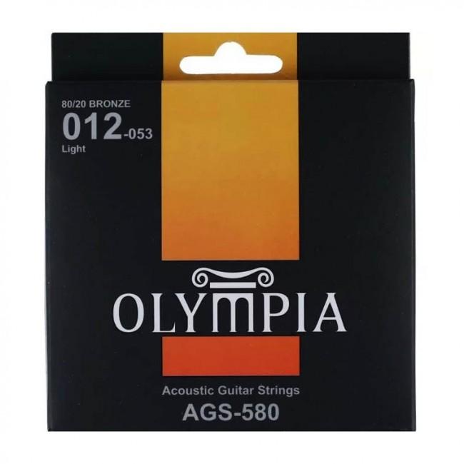 OLYMPIA AGS580 | Cuerdas para Guitarra Acústica Light Calibres 12-53