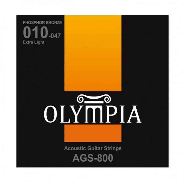 OLYMPIA AGS800 | Cuerdas para Guitarra Acústica Extra Light Calibres 10-47