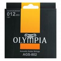 OLYMPIA AGS802 | Cuerdas para Guitarra Acústica Calibres 12-53