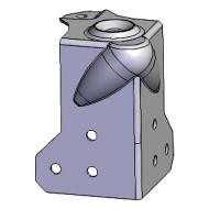 Penn Elcom C1084-01 | Esquinero de Bola con Relieve de 30mm Hembra