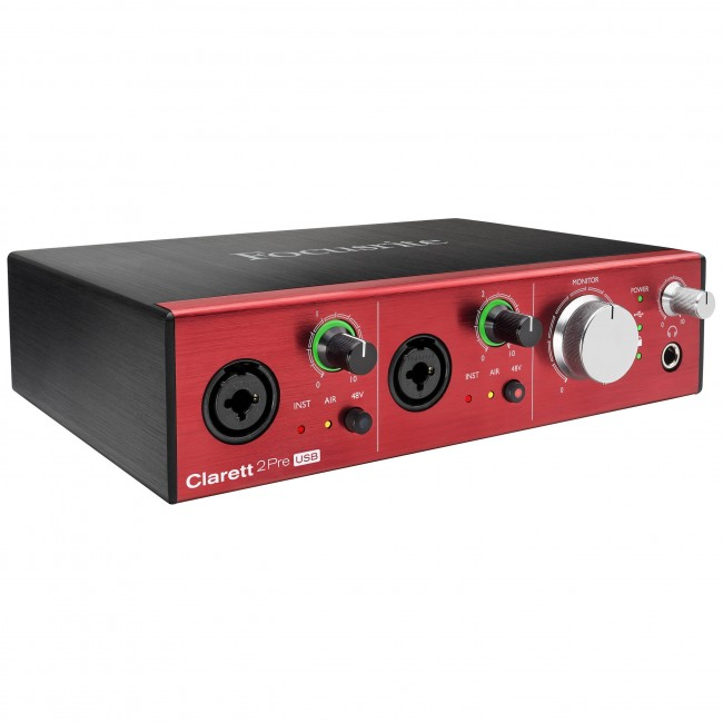 Focusrite CLARETT-2-PRE | Interfaz de audio Thunderbolt