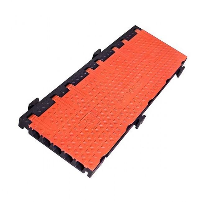 Penn Elcom CROSS5O | Protector de Cables para Piso 5 Canales Naranja