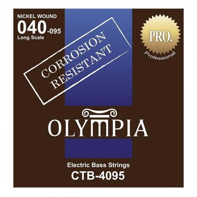 OLYMPIA CTB4095 | Cuerdas para Bajo de 4 Cuerdas Calibres 40-95