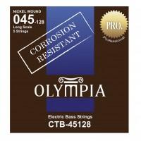 OLYMPIA CTB45128 | Cuerdas para Bajo Eléctrico de 5 Cuerdas Calibres 45-128