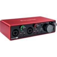 Focusrite 2I2G3 | Interfaz de Audio USB 2 Entradas y 2 Salidas 3° Generación