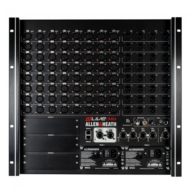 Allen & Heath DM64 | Rack de conexión DLIVE DM64.