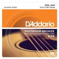 DADDARIO EJ15 | Cuerdas Para Guitarra Acústica Bronce Fosforado EJ15
