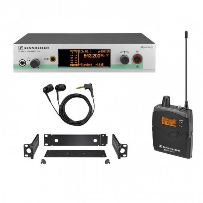 Sennheiser EW-300-IEMG3 | Set Doble para Monitoreo In Ear