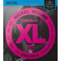 DADDARIO EXL170-5 | Cuerdas para Bajo Eléctrico de 5 Cuerdas Calibres 045-130