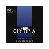 OLYMPIA FLS4B-45100 | Cuerdas para Bajo Eléctrico Flatwound Calibres 45-100
