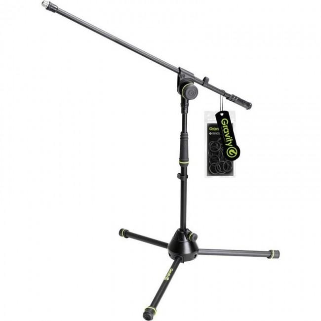 Gravity GMS4211B | Soporte de Micrófono corto con Boom telescópico
