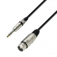 ADAM HALL K3BFV0600 | Cable de Micro de XLR hembra a Jack 6,3 mm estéreo 6 m