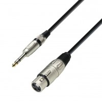ADAM HALL K3BFV1000 | Cable de Micro de XLR hembra a Jack 6,3 mm estéreo 10 m
