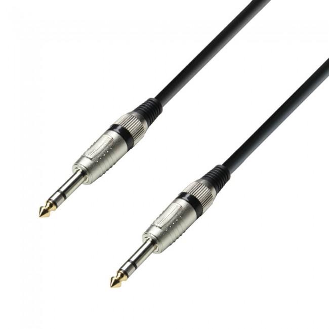 ADAM HALL K3BVV0150 | Cable de Audio de Jack 6,3 mm estéreo a Jack 6,3 mm estéreo 1,5 m