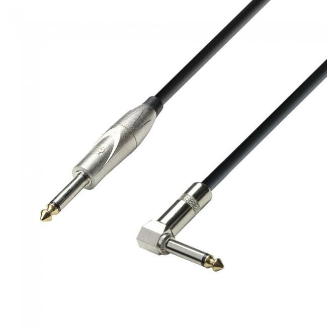 ADAM HALL K3IPR0300 | Cable de Instrumento de Jack 6,3 mm mono a Jack 6,3 mm mono acodado 3 m