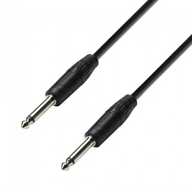 Adam Hall K3S215PP0150 | Cable de Altavoz 2 x 1,5 mm² de Jack 6,3 mm mono a Jack 6,3 mm mono 1,5 m
