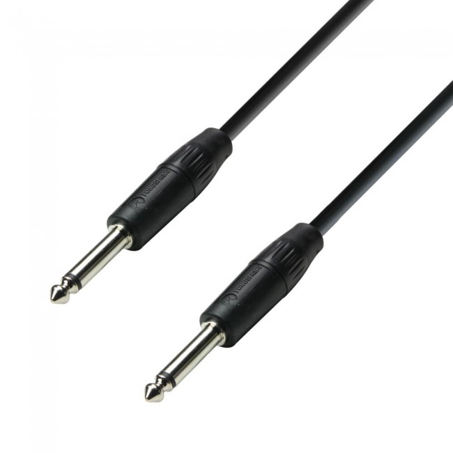 ADAM HALL K3S215PP1000 | Cable de Altavoz 2 x 1,5 mm² de Jack 6,3 mm mono a Jack 6,3 mm mono 10 m