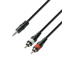 Adam hall K3YWCC0300 | Cable de Audio de Minijack 3,5 mm estéreo a 2 RCA macho 3 m