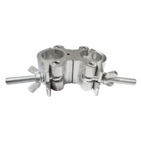 LION SUPPORT M424 | Morsa clamp doble de aluminio para iluminación