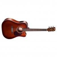 CORT MR500E-BR | Guitarra Electroacústica Dreadnought Burst Brown