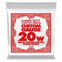 ERNIE BALL P01120 | Paquete de 6 Cuerdas para Guitarra Eléctrica .020 Nickel Wound