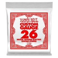 ERNIE BALL P01126   Pack de 6 Cuerdas de Guitarra Eléctrica Nickel Wound 0.26
