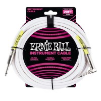 ERNIE BALL P06047 | Cable de Instrumento de 6 Mt Blanco