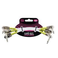 ERNIE BALL P06052 | Pack de 3 Cables de Conexión de 15 Cm Blanco