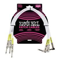 ERNIE BALL P06056 | Pack de 3 Cables de Conexión de 45 Cm Blanco