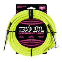 ERNIE BALL P06057 | Cable de Instrumento Trenzado Recto 7.5 Mt Amarillo