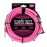 ERNIE BALL P06065 | Cable de Instrumento Trenzado Recto 7.5 Mt Rosa