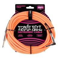 ERNIE BALL P06067 | Cable de Instrumento Trenzado Recto de 7.5 Mt Naranja