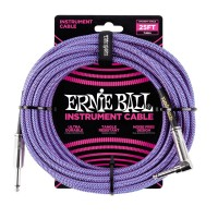 ERNIE BALL P06069 | Cable de Instrumento Trenzado Recto de 7.5 Mt Violeta