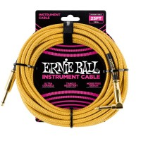 ERNIE BALL P06070 | Cable de Instrumento Trenzado Recto de 7.5 Mt Dorado