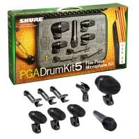 SHURE PGADRUMKIT5 | Set de 5 Piezas de Micrófonos para Batería