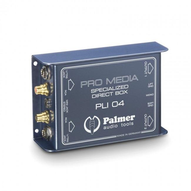 PALMER PLI04 | Caja de Inyección Directa 2 Canales para PC y Portátil