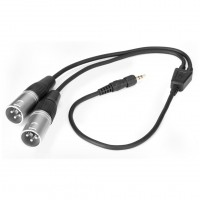 Saramonic SR-UM10-CC1 | Cable de Salida TRS Macho a Doble XLR Macho con Bloqueo de 1/8 ″
