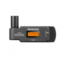 Saramonic UwMic9-RX-XLR9   Receptor Inalambrico Uhf Enchufable Xlr de Doble Canal Compacto para Cámaras Profesionales de Video
