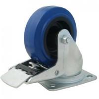 Penn Elcom W0985-80 | Rueda Giratoria Azul con Freno de 80mm