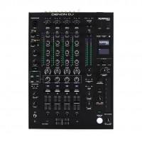 Denon Dj X1850PRIME | Mezclador DJ de 4 Canales Profesional con Efectos y Compatibilidad con Serato